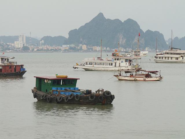 Boats in Ha Long Bay