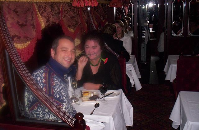 birthday dinner in the Tramcar Restaurant