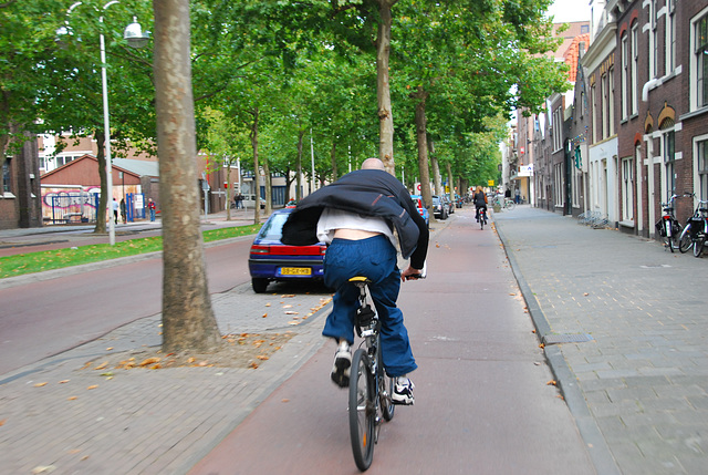 My bike ride home: overtaken by another cyclist