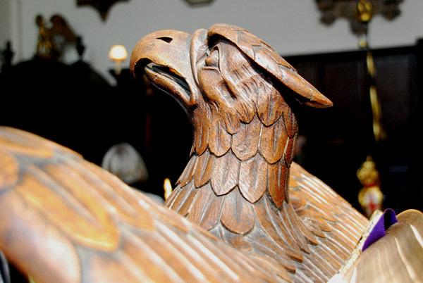 Eagle lectern detail