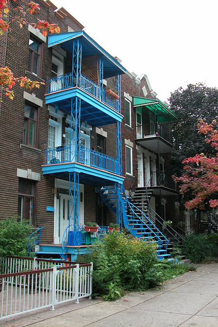 Montreal images: staircases and colours