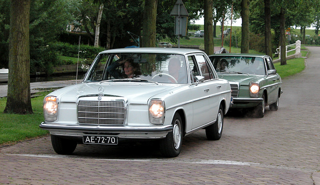 Two Mercedes-Benzes