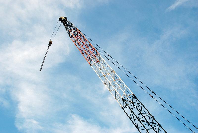 Patriotic crane