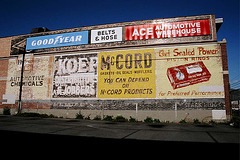 Old painted billboards