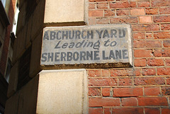 Abchurch Yard leading to Sherborne Lane