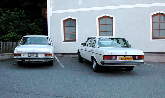 Holiday day 5: My Benz next to a Mercedes-Benz 220 D