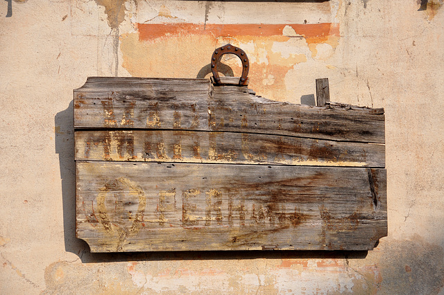 Holiday 2009 – Old sign of a farrier in Isola, France