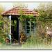 Cabanon de jardin avec vue.... ou .....derrière la porte
