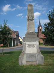 Denkmal 1. und 2. Weltkrieg - Oehna