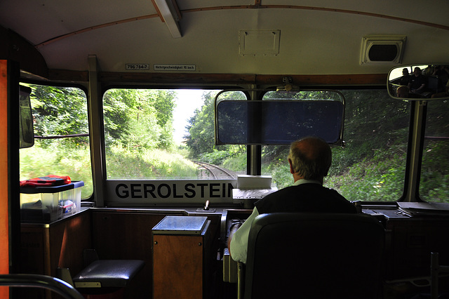 Riding in the railbus