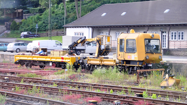 Work train at Gerolstein, Germany