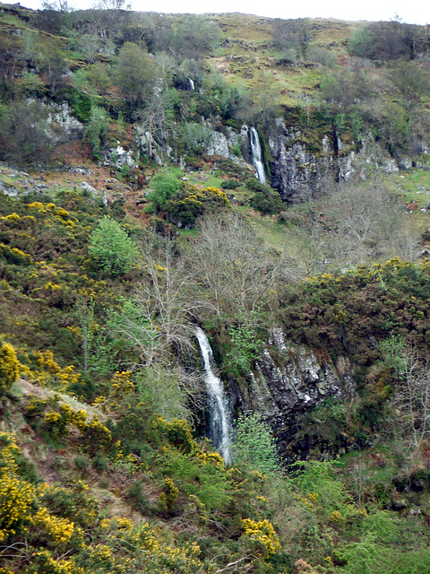 Double waterful on Gargunnock Hill