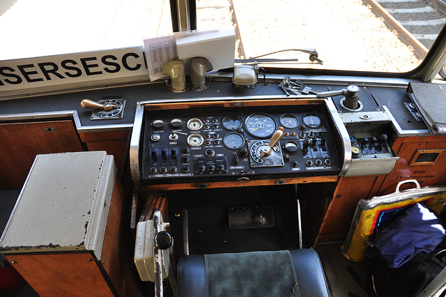Control panel of a railbus