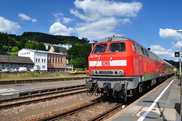 Engine 218 136-0 of Die Bahn