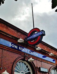 bow road tube station, london