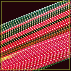 Red and Green Leaf Abstract