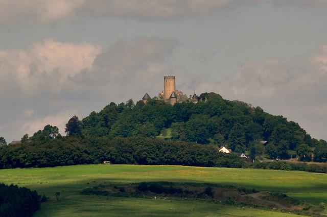 Nürburg Castle in the Eifel in Germany