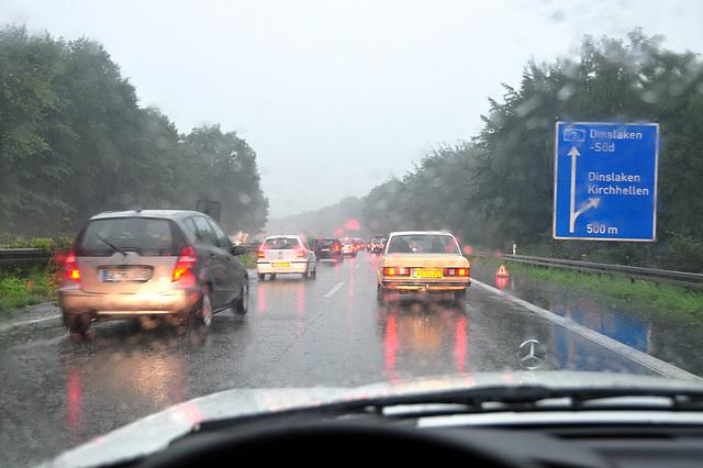 Rain on the German Autobahn