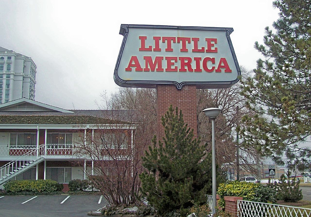 Little America motel sign, today