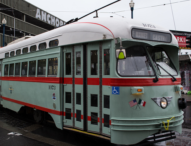 SF Embarcadero: Historic El Paso trolley (0251)