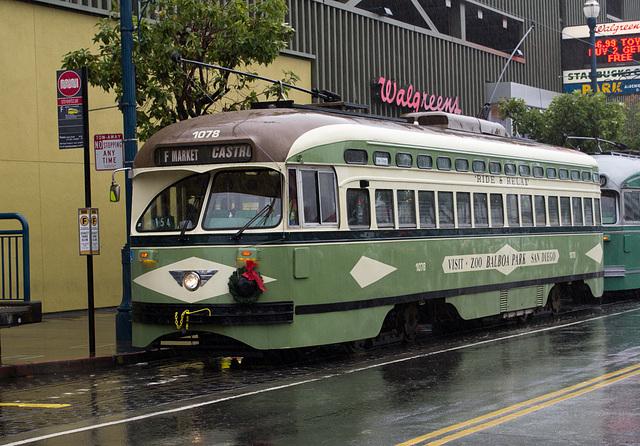 SF Embarcadero: Historic San Diego trolley (0249)