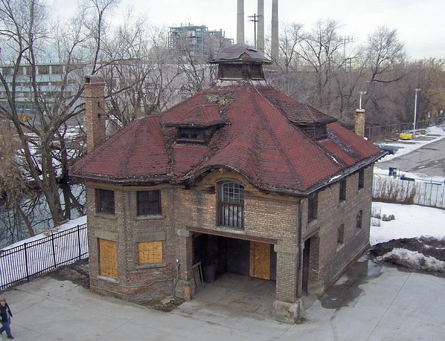 Carriage house as seen from 2nd floor