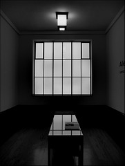 Room with square light