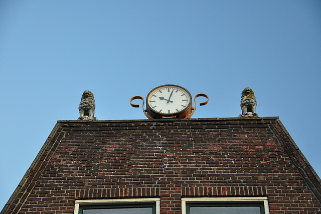 Things on rooftops: The time defended by two lions