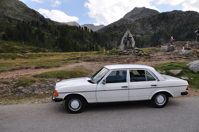 Holiday 2009 – My Mercedes-Benz 200d at the top of the Staller Sattel