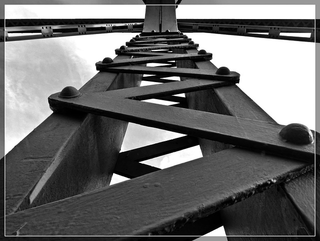 Abstract: Bridge Support Structure B/W