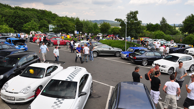 Nordschleife weekend – Parking of the Nordschleife