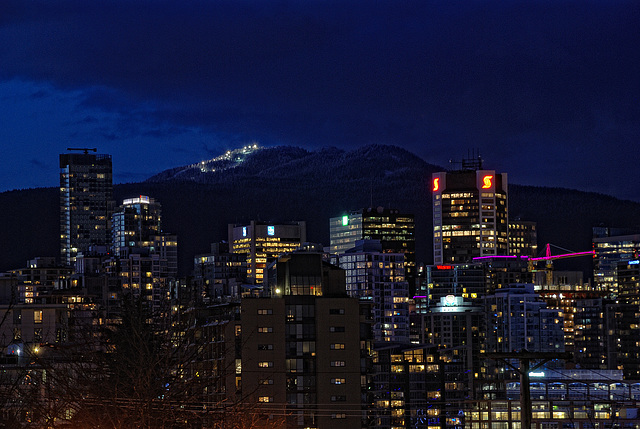 Vancouver Cityscape at Dusk