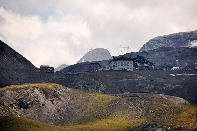 Holiday 2009 – View of the Stelvio Pass from the Umbrail Pass