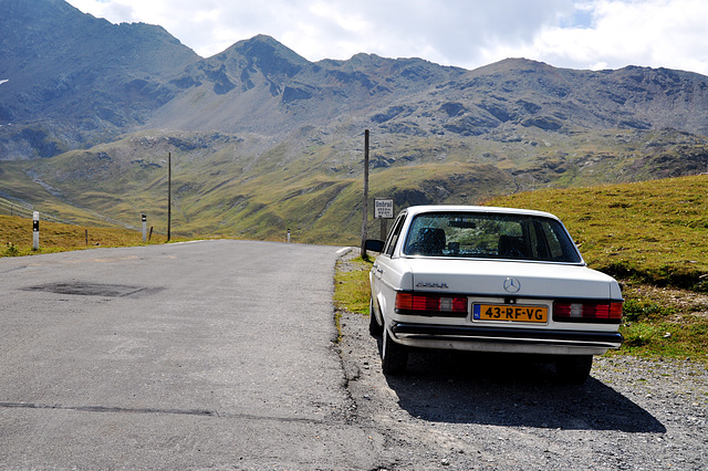 Holiday 2009 – My Mercedes on the Umbrail Pass