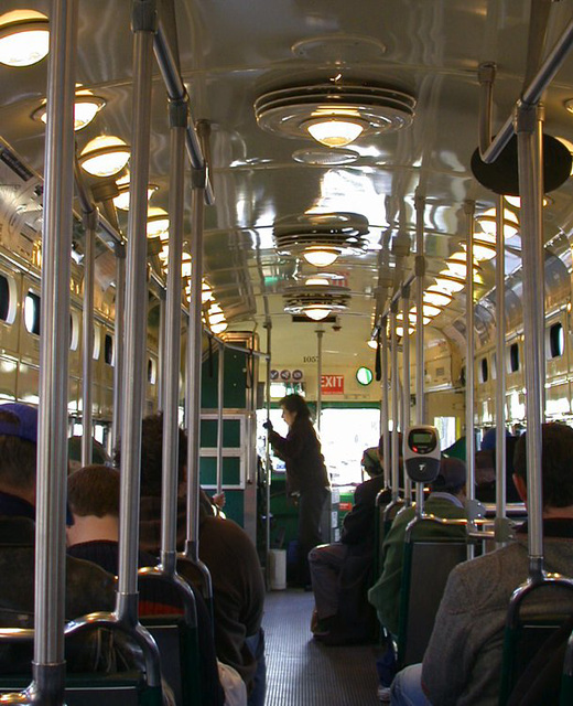 SF downtown: Trolley 2926a