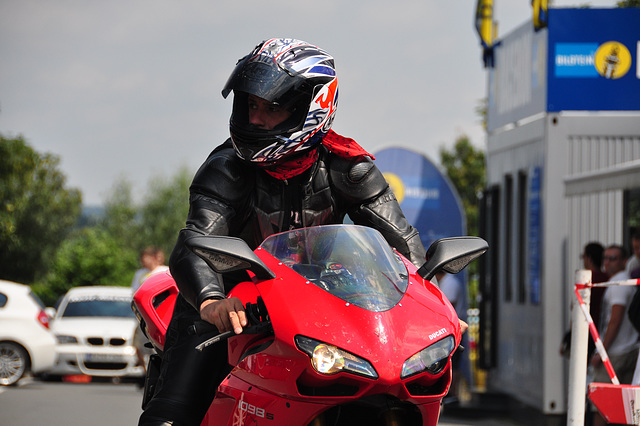 Nordschleife weekend – Biker with a matching scarf