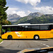Holiday 2009 – Postauto turning on the Klausen Pass, Switzerland