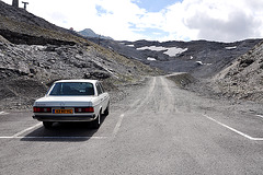 Holiday 2009 – My Mercedes parked on the Stelvio Pass