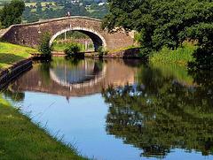 Bridge on the Leeds-Liverpool canal near Nelson, UK.