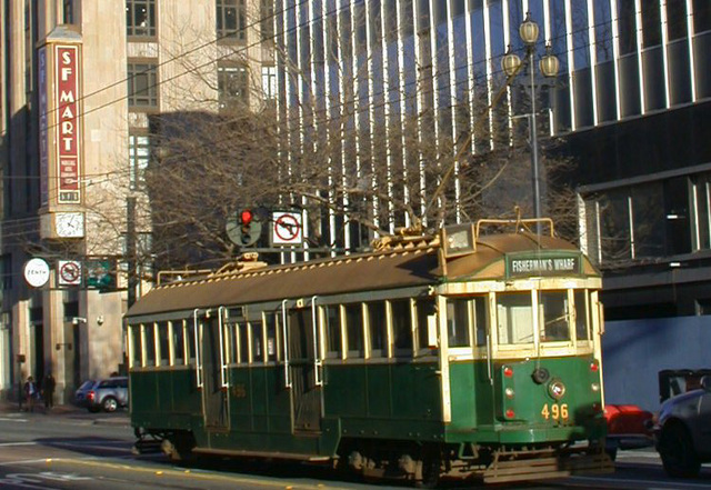 SF downtown: Trolley 2921a