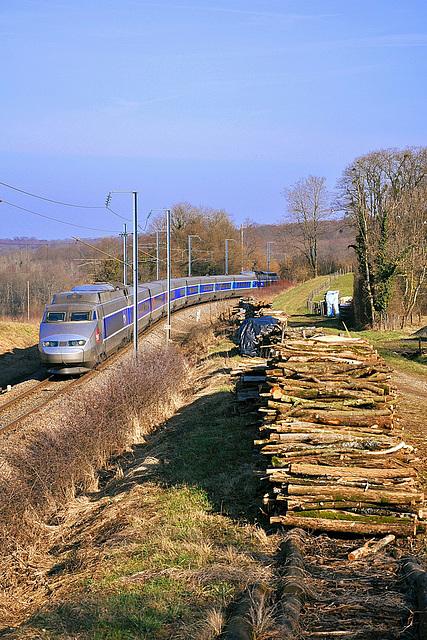 TGV dans la campagne jurassienne