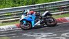 Nordschleife weekend – Suzuki R GSX bike in the corner