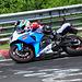 Nordschleife weekend – Suzuki R GSX bike in the corner