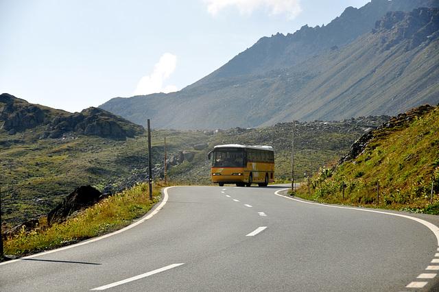 Holiday 2009 – Postauto on the Flüela Pass, Switzerland