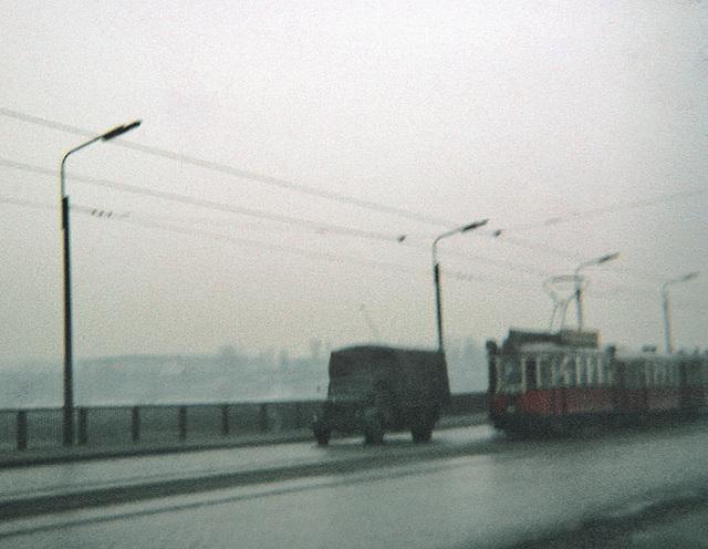 Vienna, trolley over Danube, Winter 1969 (027r)