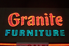 Granite Furniture, West entrance signage