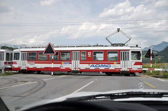Holiday 2009 – Local train of the AOMC line in Switzerland