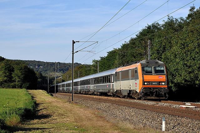 Train Corail aux portes de Besançon