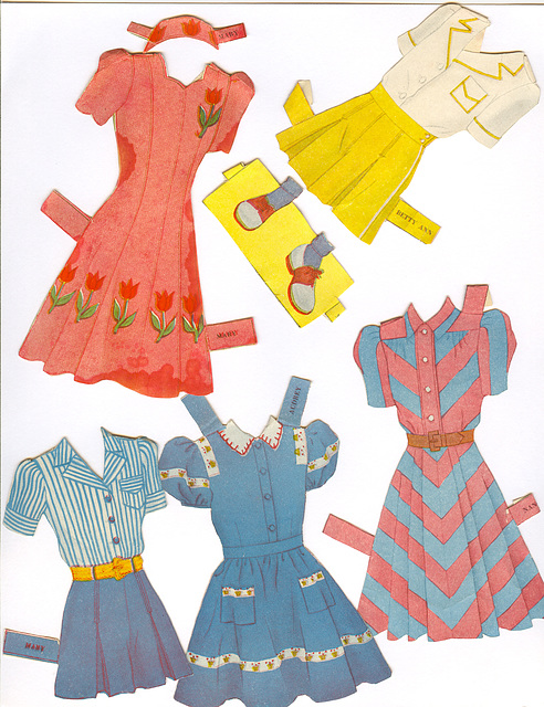 clothes for Betty Ann & friends