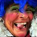 Claudia smiling tongue out portrait